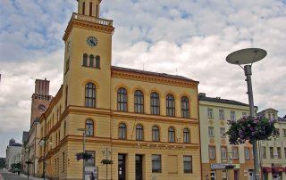 Jablonev n Nisou, radnice na Dolním Náměstí